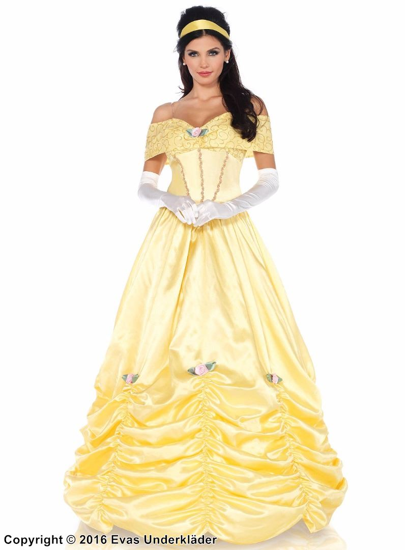 14b2c0a11994 Belle, klassisk skönheten-klänning för maskerad
